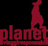Logo Planet responsabili: un viaggiatore sulla scritta planet viaggiresponsabili