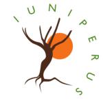 Logo di Iuniperus: un albero con dietro un sole arancione
