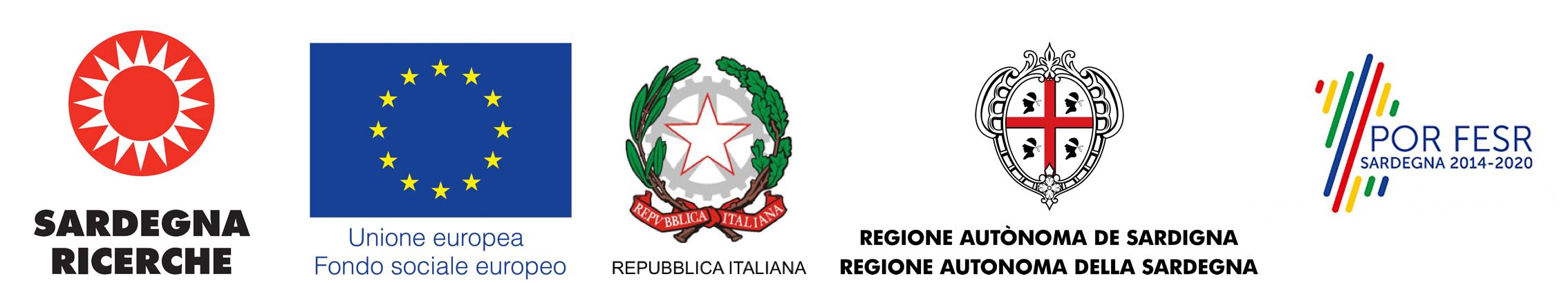 Loghi: Sardegna Ricerche, Unione Europea - Fondo Sociale Europeo, Repubblica Italiana, Regione Autonoma della Sardegna, POR FESR Sardegna 2014-2020